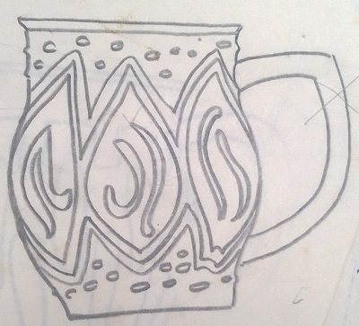 Modellers drawings of mugs to be identified ... G10