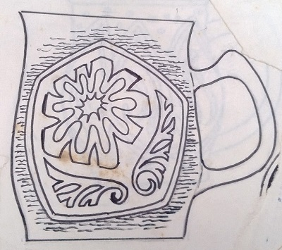 Modellers drawings of mugs to be identified ... H10