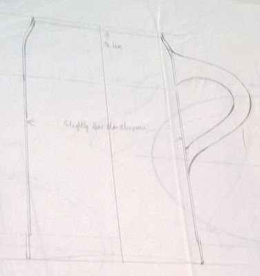 Modellers drawings of mugs to be identified ... K10