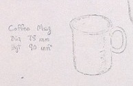 Modellers drawings of mugs to be identified ... L10