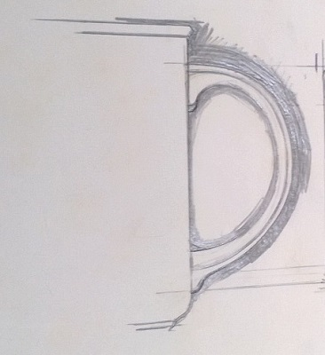 Modellers drawings of mugs to be identified ... M10
