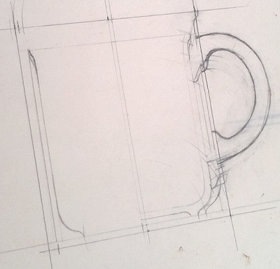 Modellers drawings of mugs to be identified ... N10