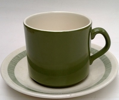 chelsea - Green thin stripe band saucer and green mug for Chelsea Green Stripe11