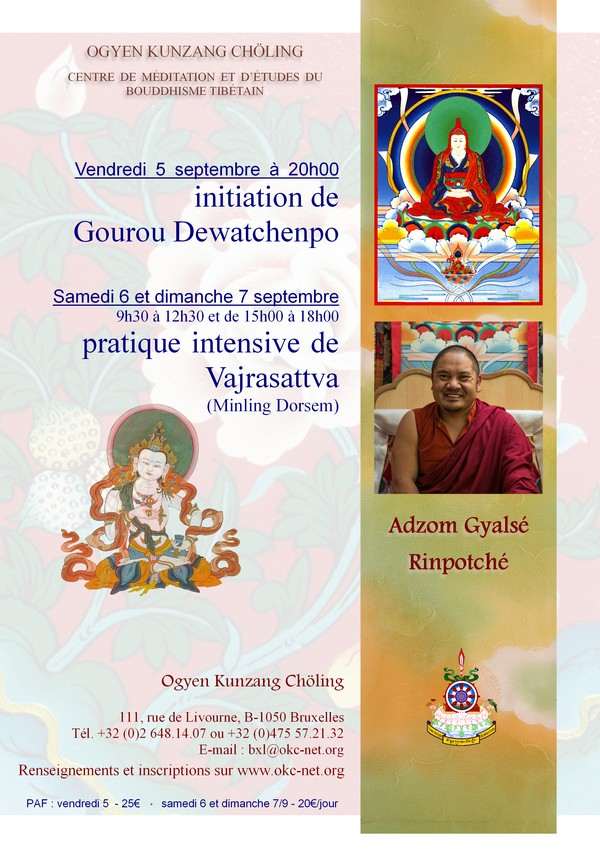 ADZOM Rinpoché à Bruxelles en sept 2014 656a4d10