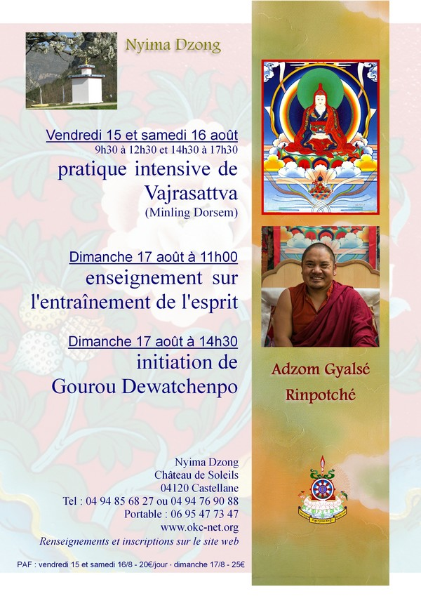 Adzom Gyalsé Rinpoché à Nyima Dzong 2014 C9629d10