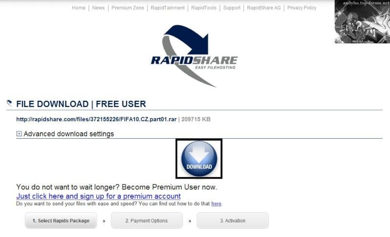 Návod ako sťahovať z rapidshare.com ! Fifa_212