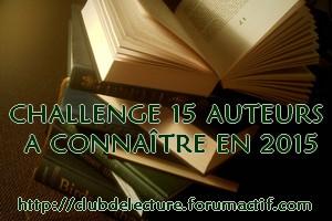 Challenge 15 Auteurs en 2015 Banniy38