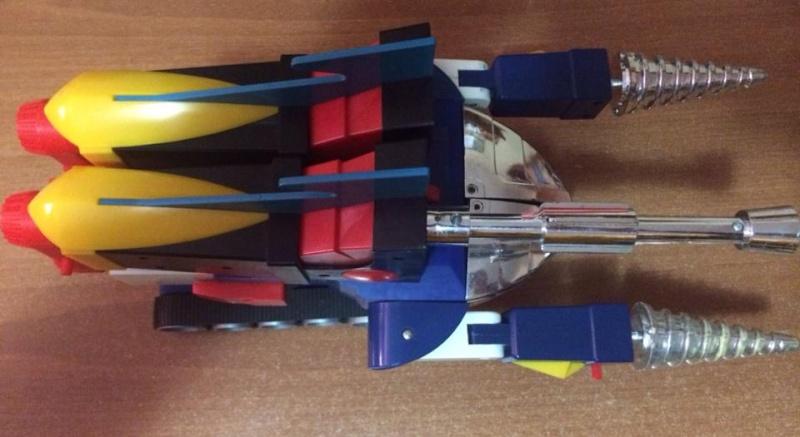 samurai - Daitarn TRE Daitan 3 Jumbo motorizzato Trasformabile Battery operated oltre 40 cm CLOVER no Samurai 10426710