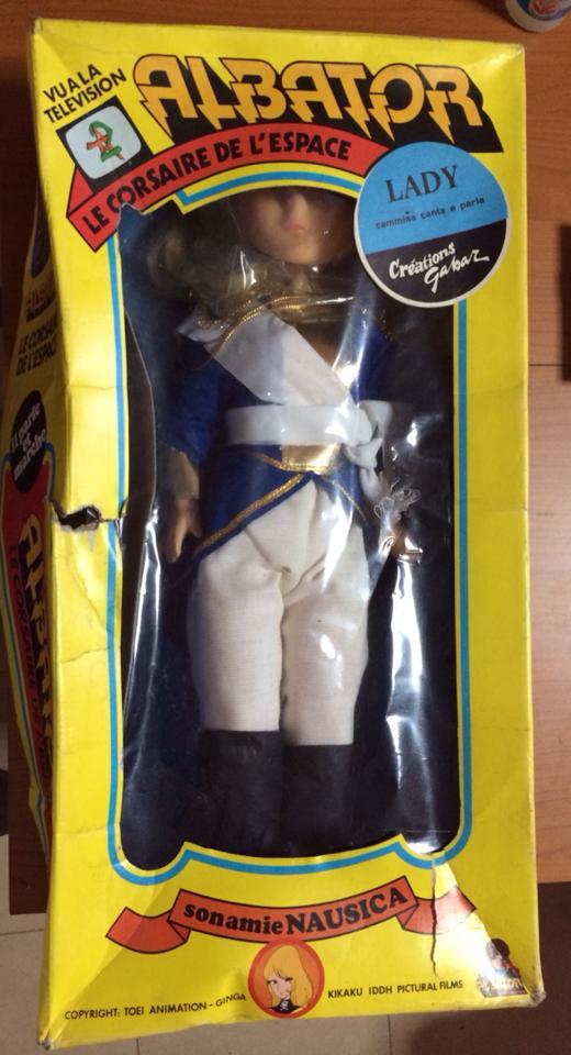 Bambola LADY OSCAR Versailles 55 cm box GABAR bambole Italiane Albator Capitan Harlock Nausica anni 70 80 10541810