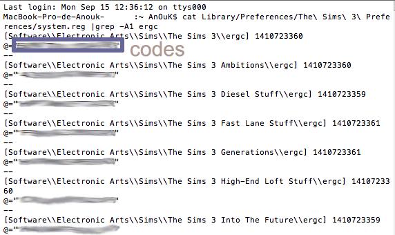 [Fiche] Récupérer ses codes d'installation sur MAC  Captur12