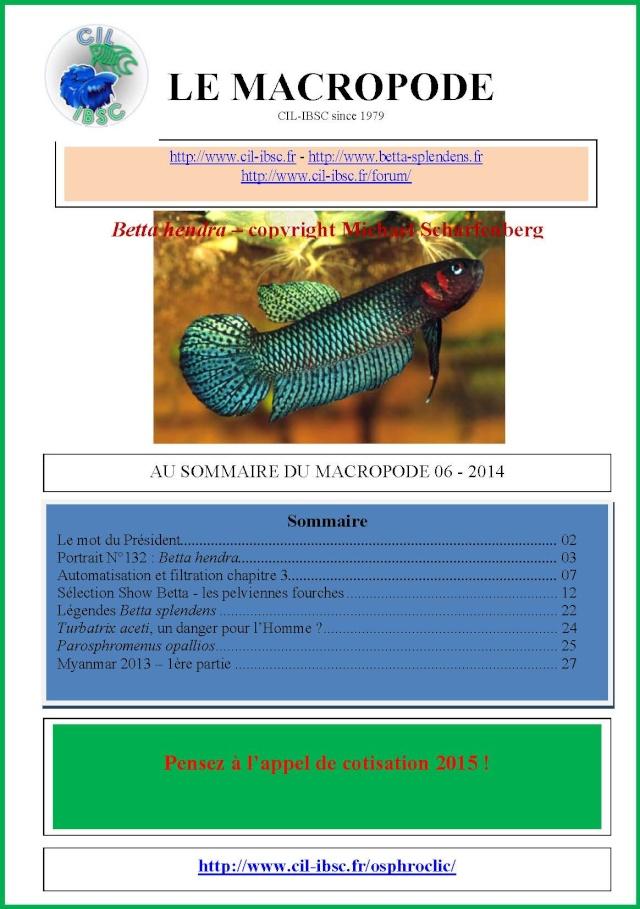 Sommaires revue du Macropode. 2014-010