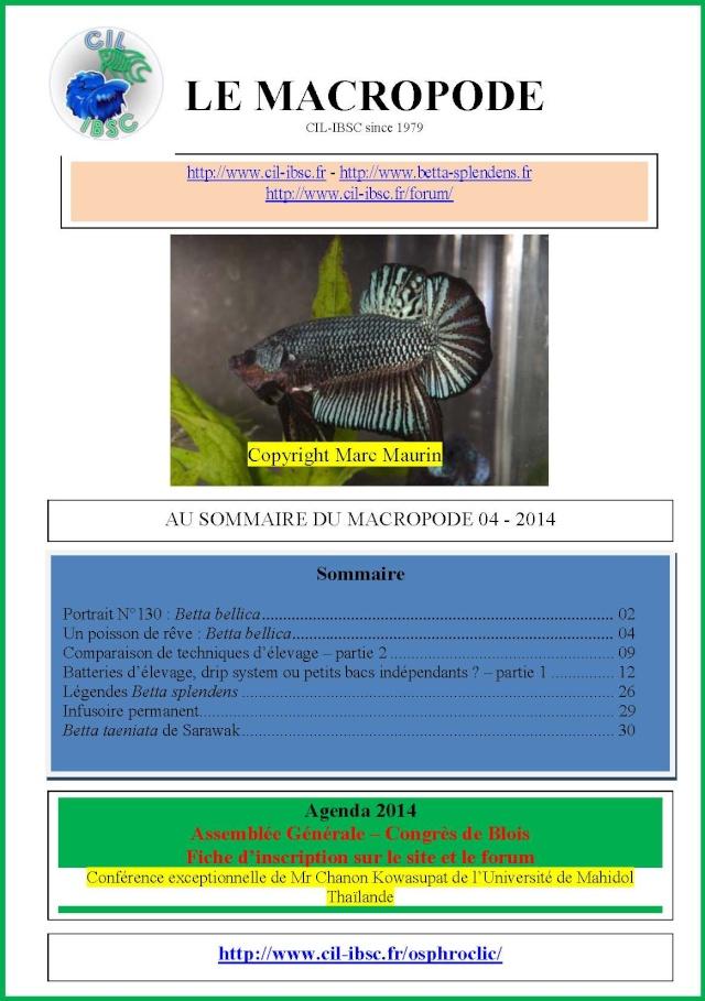 Sommaires revue du Macropode. 2014-011