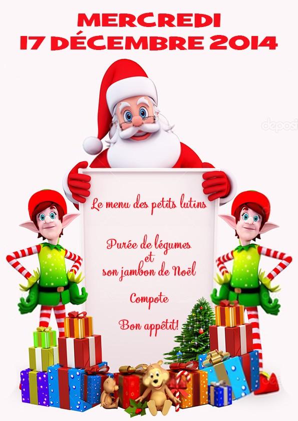 Menu de Noël pour la crèche Menu11