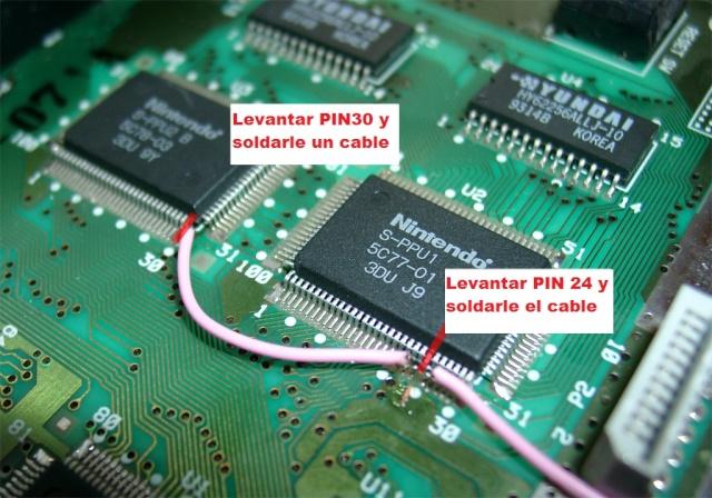 Super Nintendo. Modificación CIC y 50/60 Hz sin interruptores. Superc10