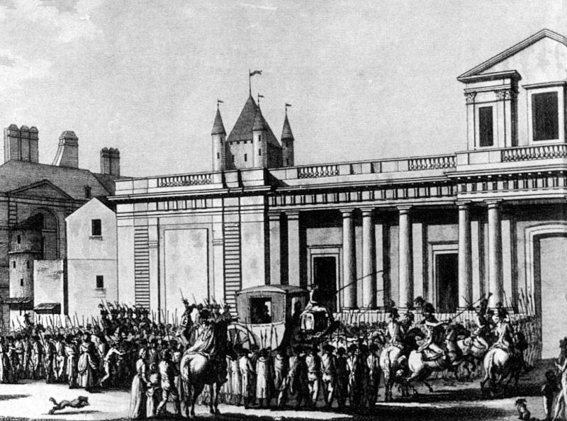 Le transfert de la famille royale des Tuileries au Temple ... Arrtem11