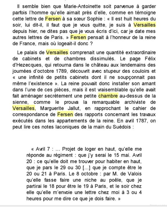 Le logement de Fersen au château de Versailles Logeme10