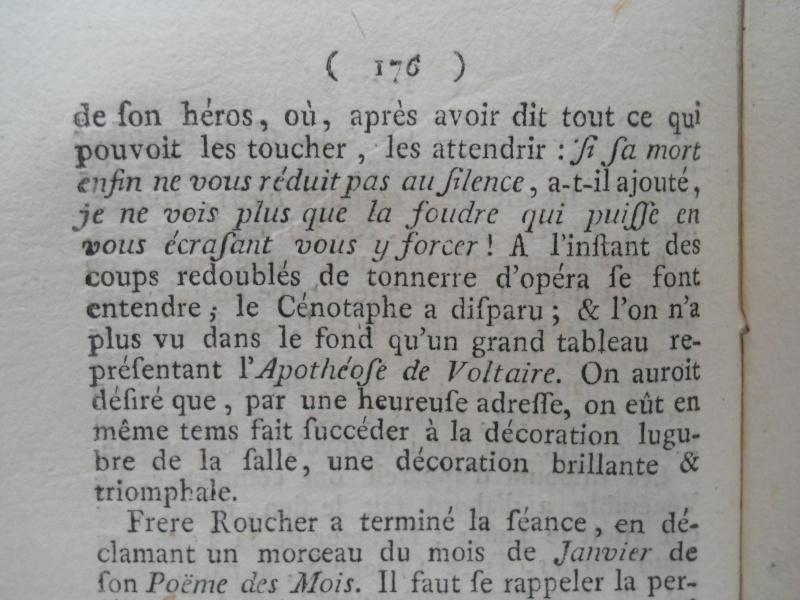 La mort de Voltaire, selon les Mémoires Secrets . - Page 2 Memoi171