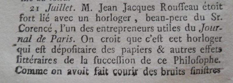 La mort de Jean-Jacques Rousseau Memoir94