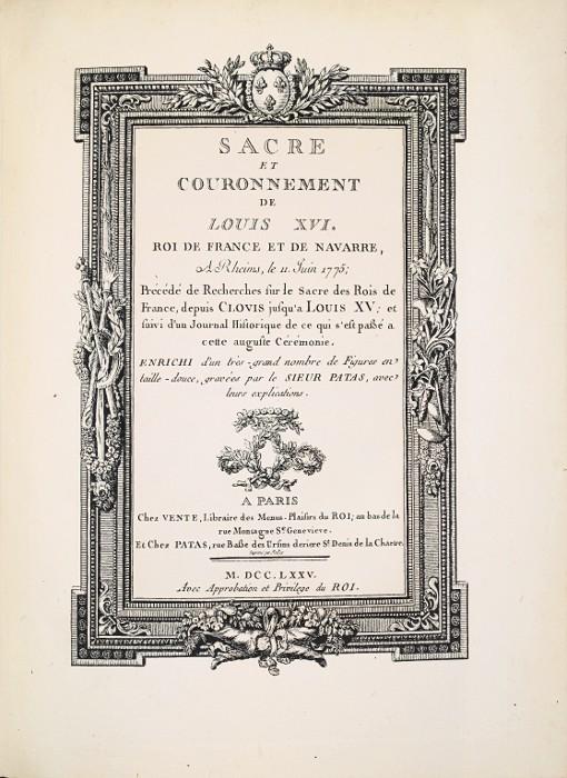 Le couronnement et le sacre de Louis XVI Patas_13