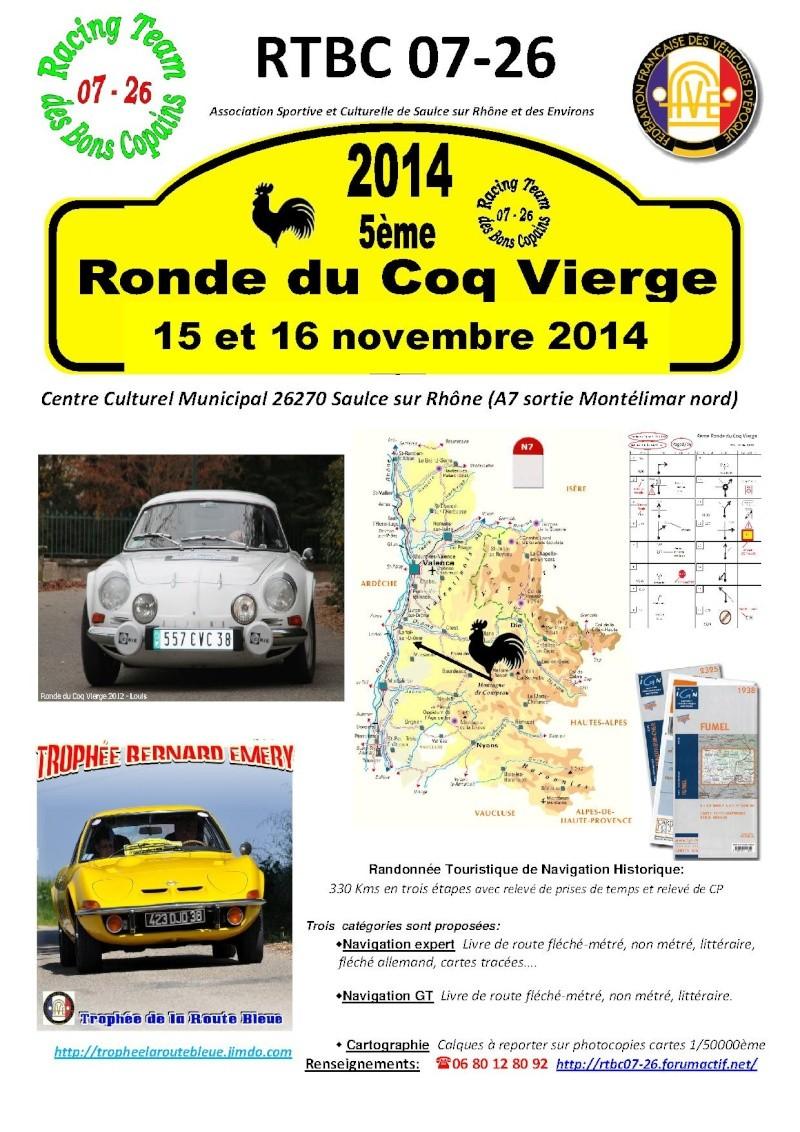 Réglement et engagement de la 5ème Ronde du Coq Vierge 15/16 Novembre 2014 Affich12