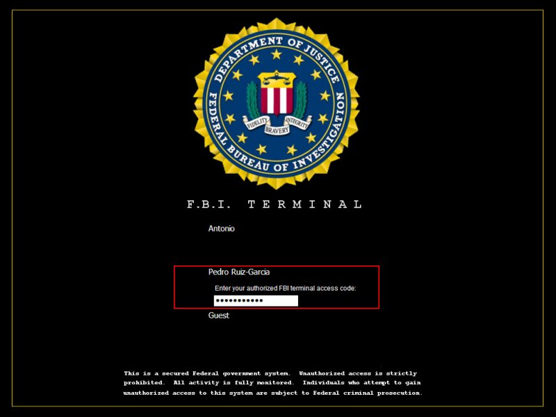 FBI Terminal Fbi10
