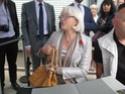 (N°51)Photos de la cérémonie commémorative du 70 eme anniversaire de la libération de la ville de Bar-le-Duc.Photos prise le 31 Août 2014, avec Madame Helen Patton , petite fille du Général Patton.(Photos de René PADER) 10358810