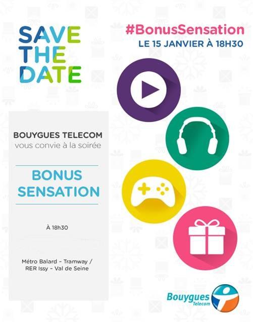 """Bouygues Telecom levera le voile sur les """"Bonus Sensation"""" le 15 janvier Soiree10"""