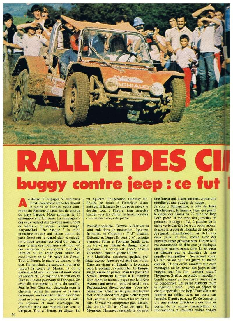 buggy - Jeep contre buggy c'est l'aguerre (rallye des Cimes 1980) Annonc14