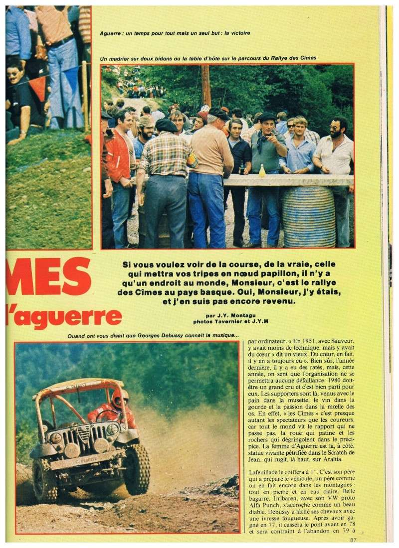 Jeep contre buggy c'est l'aguerre (rallye des Cimes 1980) Annonc15