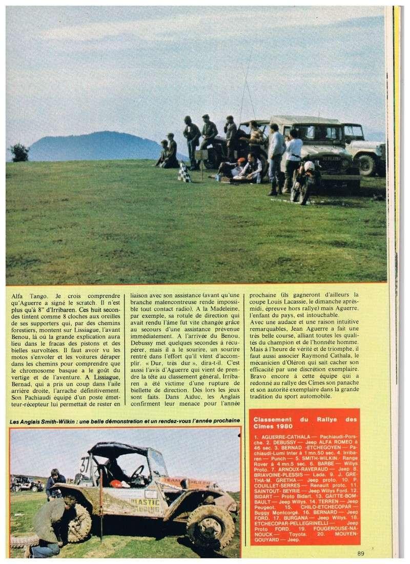 buggy - Jeep contre buggy c'est l'aguerre (rallye des Cimes 1980) Annonc16