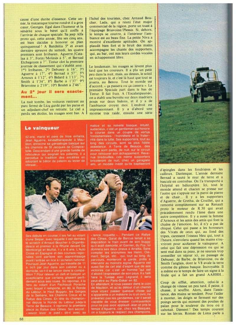 Jeep contre buggy c'est l'aguerre (rallye des Cimes 1980) Annonc24