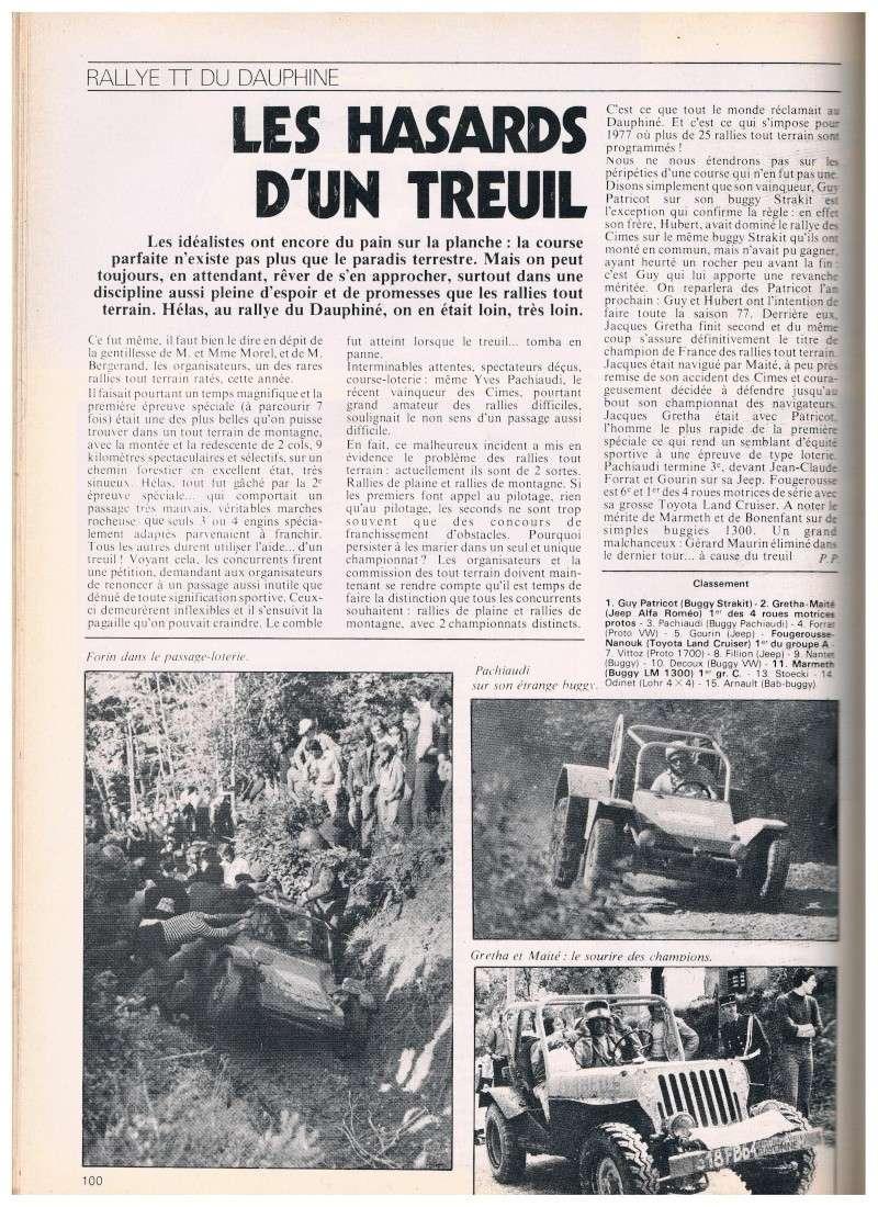 buggy - Rallye TT Dauphiné 1976: Pachiaudi sur un étrange buggy !!! Annonc30