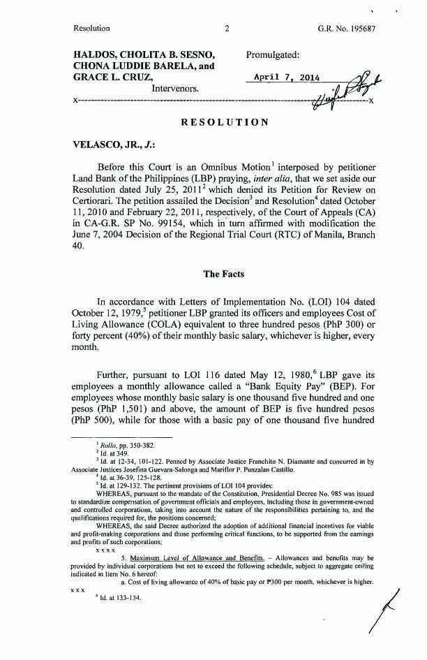 G.R. No. 195687. April 7, 2014 Land Bank of the Philippines Vs. David G. Naval, Jr., et al. Cola_b11