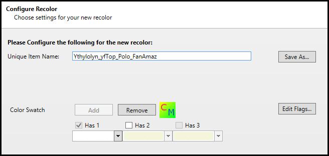 [sims 4] Modifier des vêtements avec Color Magic 5.2 et S4PE Etape110