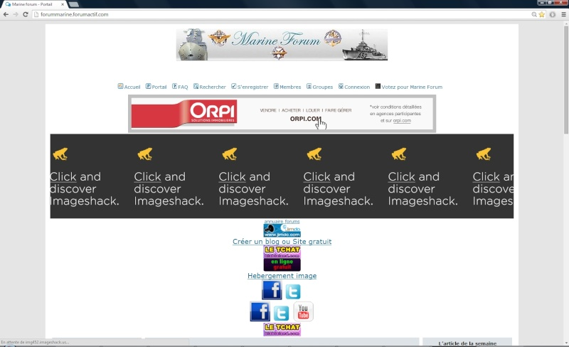 Publicité sur portail Screen54