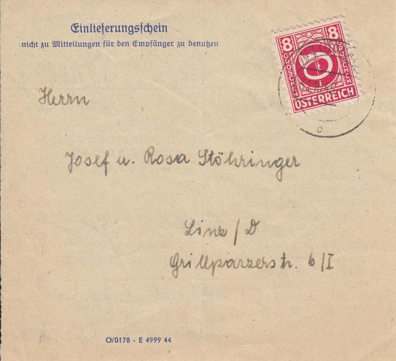 Posthornzeichnung  -  ANK 697-713  -  Belege Img34