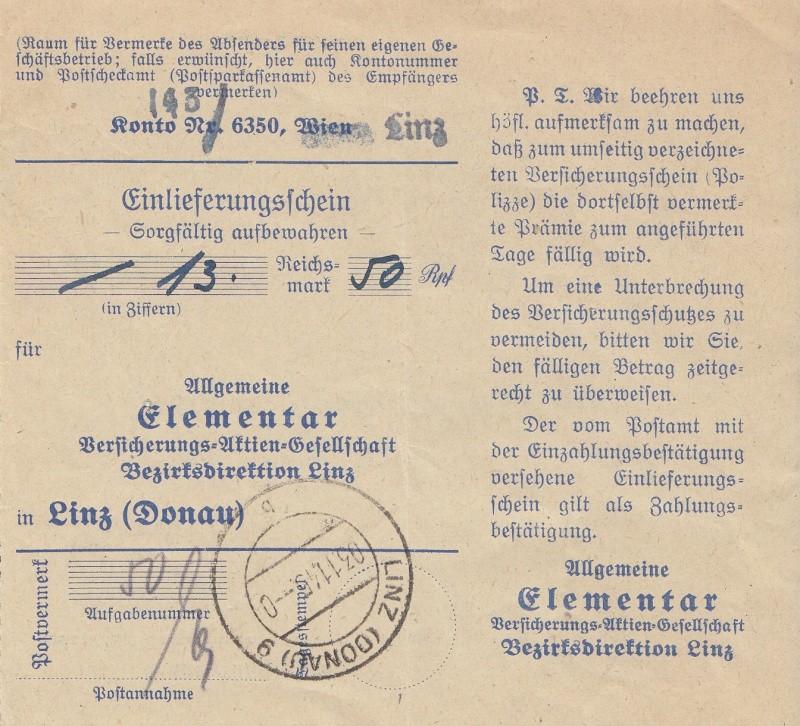 Posthornzeichnung  -  ANK 697-713  -  Belege Img_0036