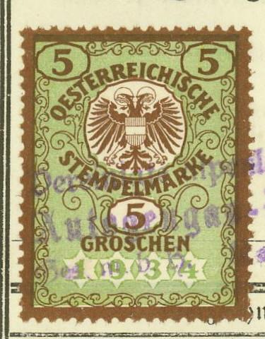 Österreich  -  Fiskalphilatelie 05093810