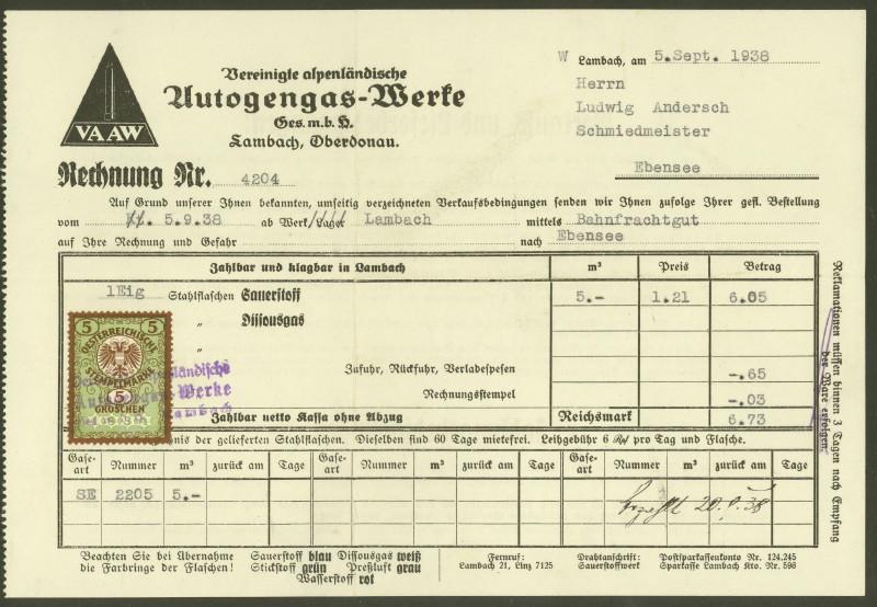 Österreich  -  Fiskalphilatelie 05093811