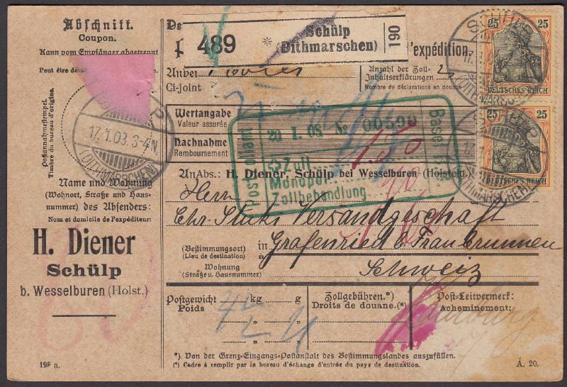 Deutsches Reich 1900 bis Mai 1919 - Germaniazeichnung 70_73x10