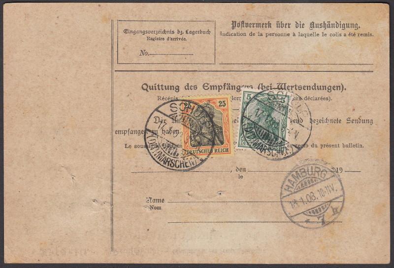 Deutsches Reich 1900 bis Mai 1919 - Germaniazeichnung 70_73x11