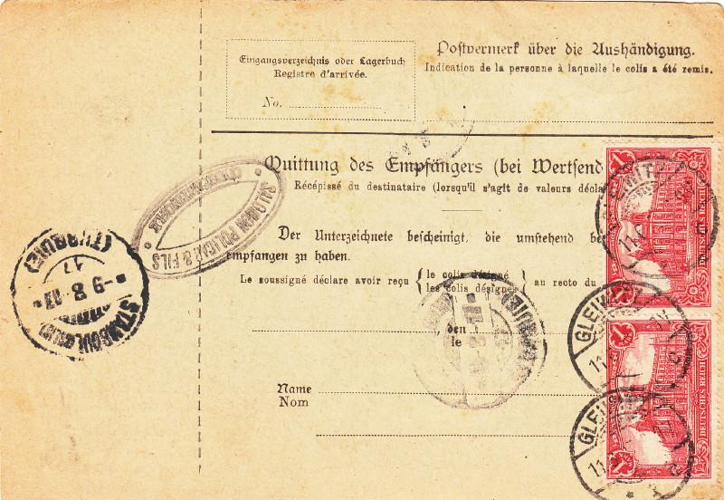 Deutsches Reich 1900 bis Mai 1919 - Germaniazeichnung 87_94x11