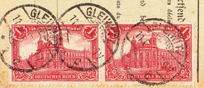 Deutsches Reich 1900 bis Mai 1919 - Germaniazeichnung 87_94x12