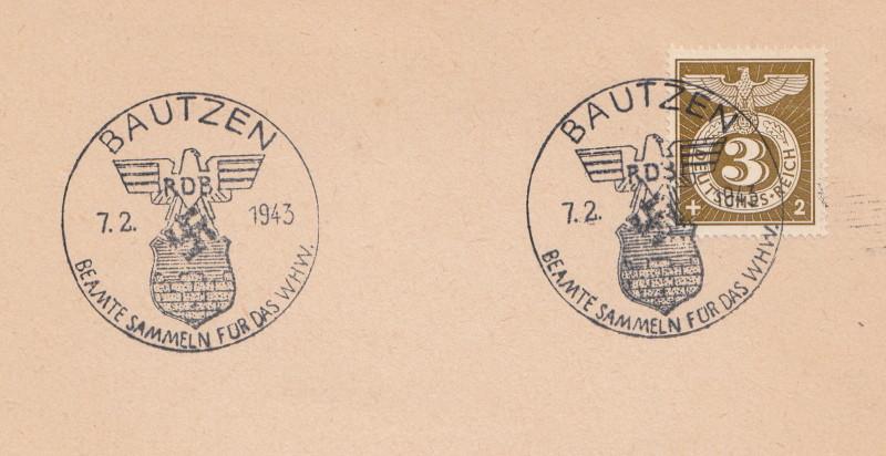Belege / Sonderstempel Deutsches Reich 1943 Bautze10
