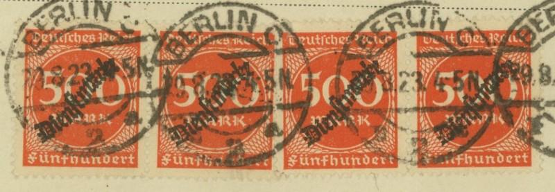 Deutsches Reich Dienstmarken Berlin11