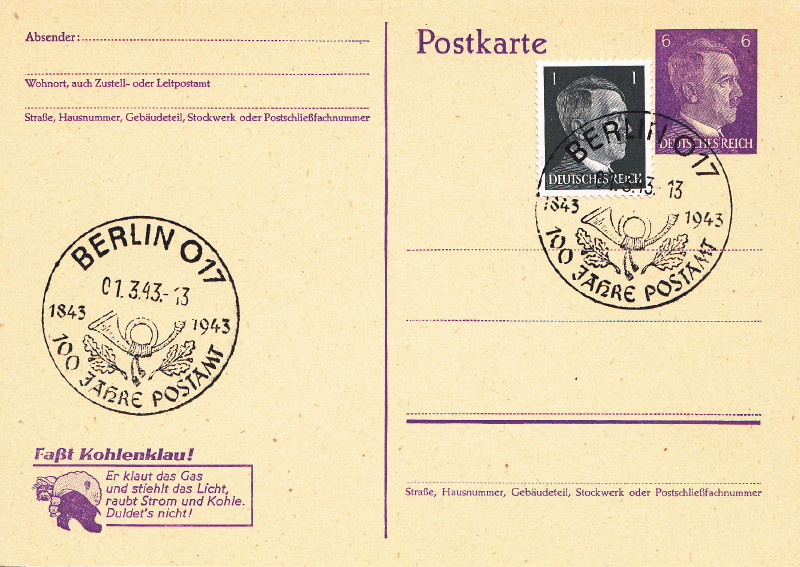 Belege / Sonderstempel Deutsches Reich 1943 Berlin17