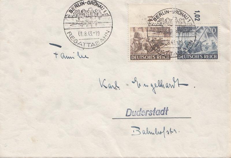 Belege / Sonderstempel Deutsches Reich 1943 Berlin18