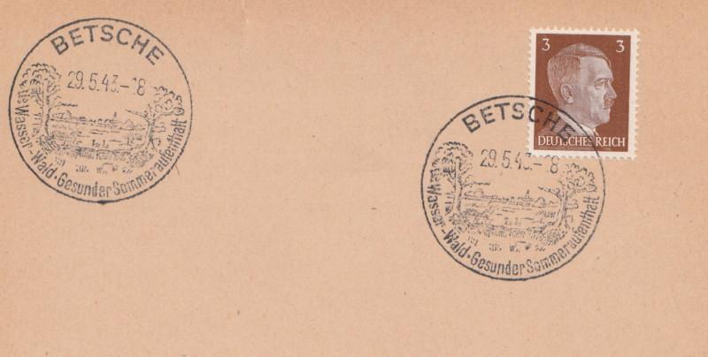 Belege / Sonderstempel Deutsches Reich 1943 Betsch10