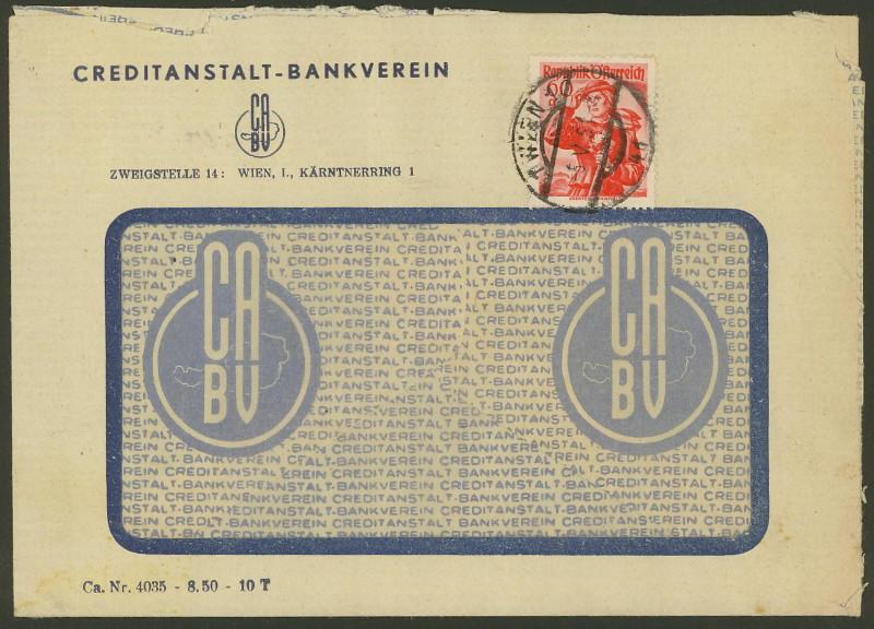 Briefe / Poststücke österreichischer Banken - Seite 2 Credit10