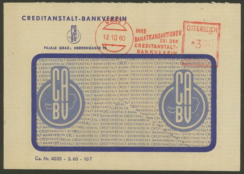 Briefe / Poststücke österreichischer Banken - Seite 2 Credit11